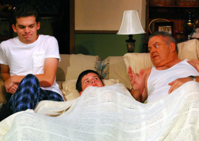 LtoR Bennett Saltzman, Ethan Rockwell, Van Boudreaux, photo By Doug Engalla