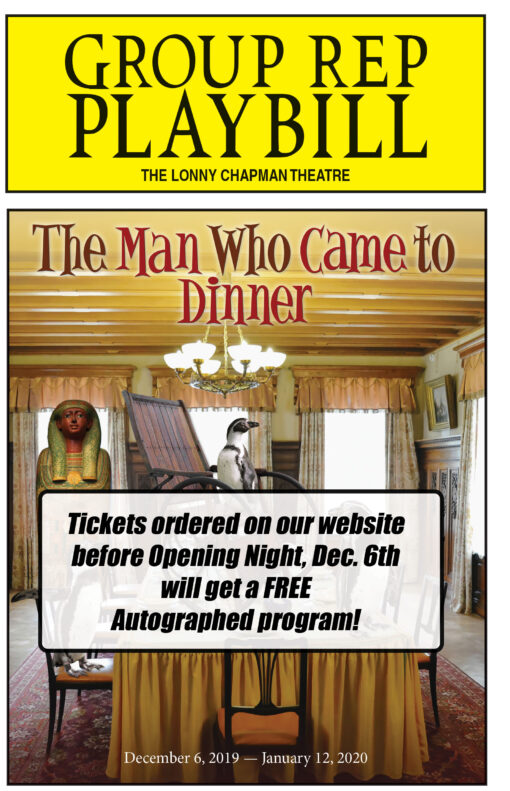 The Man Who Came to Dinner Tickets with Autographed Program